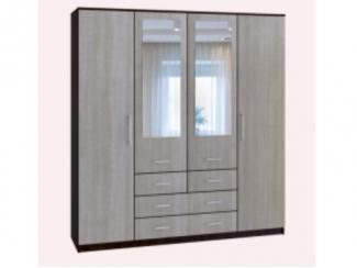 Шкаф 4-х дверный с зеркалом - Мебельная фабрика «КурскМебель»