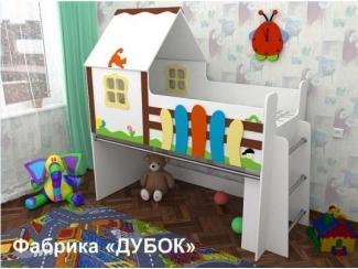 Кровать-чердак для детей Сказочный домик - Мебельная фабрика «Дубок»