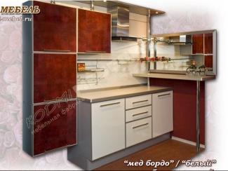Кухонный гарнитур угловой Мед бордо
