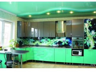 Кухонный гарнитур угловой Цветочный бриз