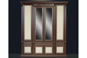Шкаф коричневый с 2-мя зеркалами Б13.1 - Мебельная фабрика «Благо»