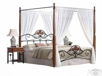 Кровать с балдахином  MK-1924-RO - Импортёр мебели «M&K Furniture»