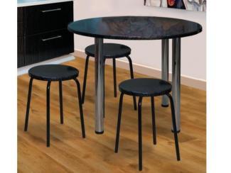 стол обеденный круглый, табурет - Мебельная фабрика «Долес»