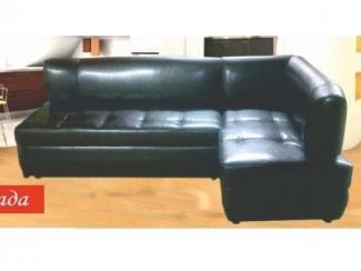 Черный угловой диван Влада 16