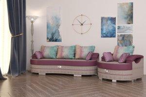 Евротахта Барселона-5 и кресло-кровать Барселона-5 - Мебельная фабрика «Валенсия»