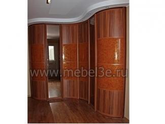 Волнообразный радиусный шкаф купе с прямыми элементами - Мебельная фабрика «ТРИ-е»