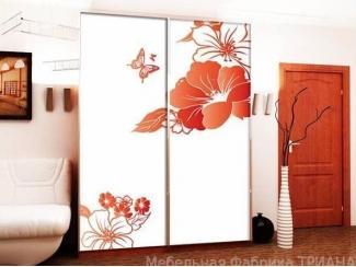 Красивый шкаф-купе с цветами Эпсилон Ту - Мебельная фабрика «Триана»
