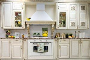 Кухня Афродита слоновая кость с золотой патиной - Мебельная фабрика «Мебель Черноземья»