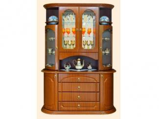 Буфет 2 МДФ с гравировкой по стеклу - Мебельная фабрика «Вита-мебель», г. Кузнецк