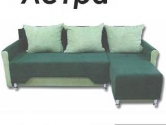 Зеленый угловой диван Астра