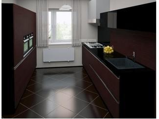 Двухрядная кухня Олимп 3 в стиле хай-тек - Мебельная фабрика «Аркадия-Мебель»