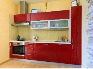 Кухня прямая Красная - Мебельная фабрика «Найди»