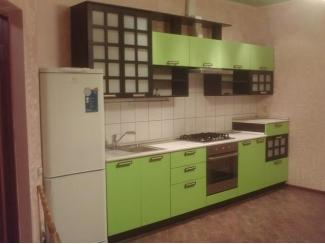 Современная зеленая прямая кухня МДФ - Мебельная фабрика «GradeMebel»