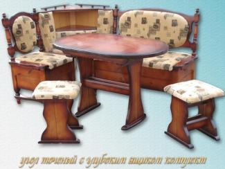 Кухонный уголок Точеный глубокий ящик - Мебельная фабрика «Заря»