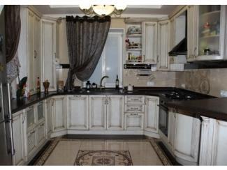 Кухня из массива дуба белёный с патиной орех - Мебельная фабрика «Леспром»