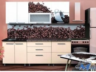 Кухня прямая с фотопечатью Мокко - Мебельная фабрика «Мир Мебели»