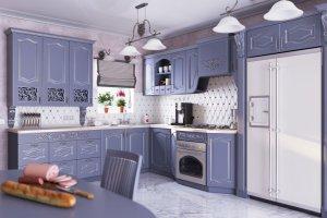 Классическая сиреневая кухня Изабелла - Изготовление мебели на заказ «Форест»