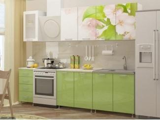 Кухня Яблоневый цвет с фотопечатью