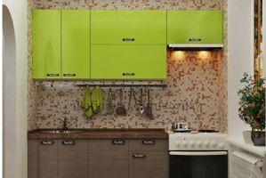 Маленькая кухня Яблоко  - Мебельная фабрика «Династия»