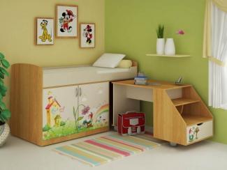 Кровать детская комбинированная Гномик - Мебельная фабрика «Ивушка»