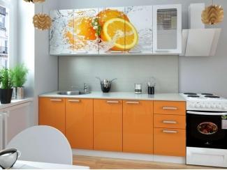 Кухня с фотопечатью Апельсин - Мебельная фабрика «Элна»