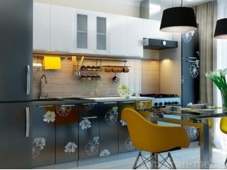 Кухонная система с комбинированными глянцевыми фасадами из МДФ Грация - Мебельная фабрика «Фран»