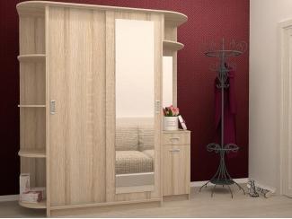 Светлый шкаф с угловыми полками - Мебельная фабрика «Центр мебели Интерлиния»