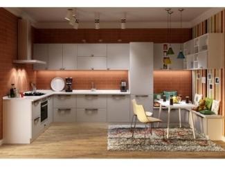 Угловая кухня в белом цвете Бостон - Мебельная фабрика «AlvaLINE»