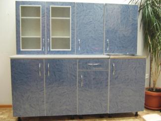 кухня прямая Визит-К(синий) - Мебельная фабрика «Киржачская мебельная фабрика»