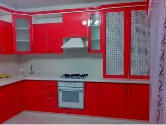 Красная угловая кухня Грета - Мебельная фабрика «Соната», г. Орёл