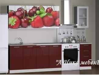 Глянцевая прямая кухня Бордо Аника - Мебельная фабрика «А-Ника», г. Ульяновск