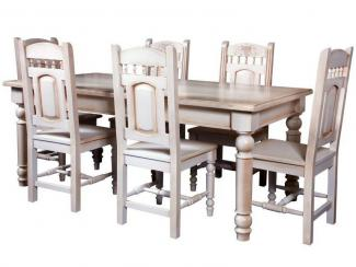 Обеденная группа Стол обеденный Викинг GL-05 + стул  Викинг GL-05 - Мебельная фабрика «Лидская мебельная фабрика»