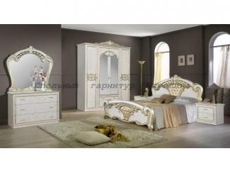 Светлый спальный гарнитур Каролина  - Мебельная фабрика «Виктория»