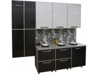 Кухня прямая Дождь черный - Мебельная фабрика «Техсервис»