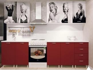 Красная кухня с фотопечатью  - Мебельная фабрика «Северин»