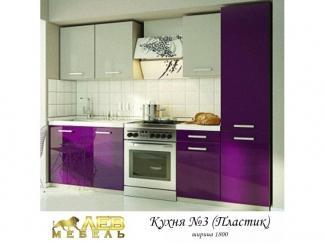 Кухня пластик 3 - Мебельная фабрика «Лев Мебель»