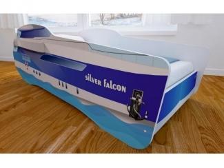 Кровать детская с матовой фотопечатью Корабль - Мебельная фабрика «Мульто»