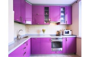 Кухня пластиковый фасад 03 - Мебельная фабрика «МеТра», г. Москва