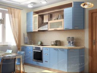 Кухня прямая «Голубой свет Тигра» - Мебельная фабрика «Ладос-мебель»