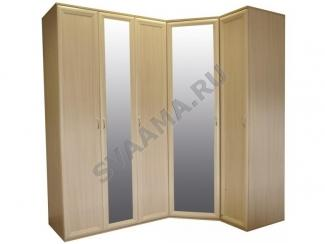 Светлый угловой шкаф с зеркалами - Мебельная фабрика «Сваама»