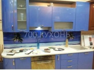 Голубая прямая кухня  - Мебельная фабрика «700 Кухонь»