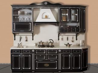 Кухонный гарнитур Береза цвет черный-патина серебро