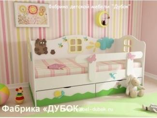 Детская кровать  Винни-Пух и его друзья - Мебельная фабрика «Дубок»