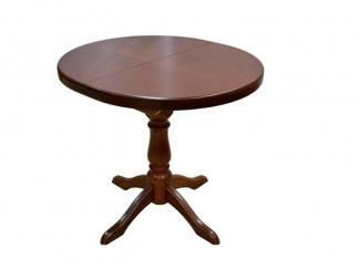 Стол раздвижной овальный на одной ноге