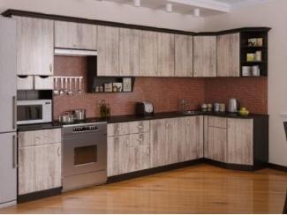 Большой угловой кухонный гарнитур Сосна выбеленная  - Мебельная фабрика «РОСТ»