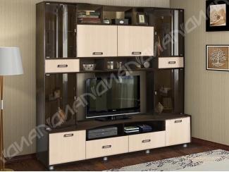 Вместительная мебель для гостиной Аллегро 4 - Мебельная фабрика «Диал»