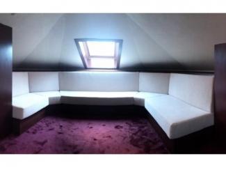 Белый П-образный диван  - Мебельная фабрика «Элит-диван», г. Москва