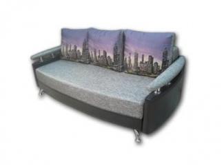 Серый диван с подушками Фло