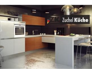 Кухонный гарнитур угловой Мелле Лайт - Мебельная фабрика «Zuchel Kuche»