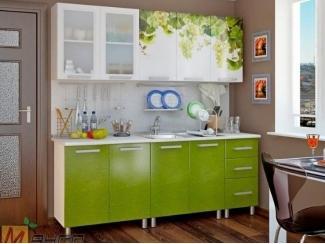Прямая кухня Виноград с фотопечатью - Мебельная фабрика «Манго»